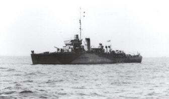 HMS Speedy mined May 1943 - Halcyon Class Minesweeper